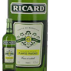 1 Bouteille de Ricard Pastis de Marseille aux plantes fraîches 45% 70cl - Auchan drive bordeau le lac (33)