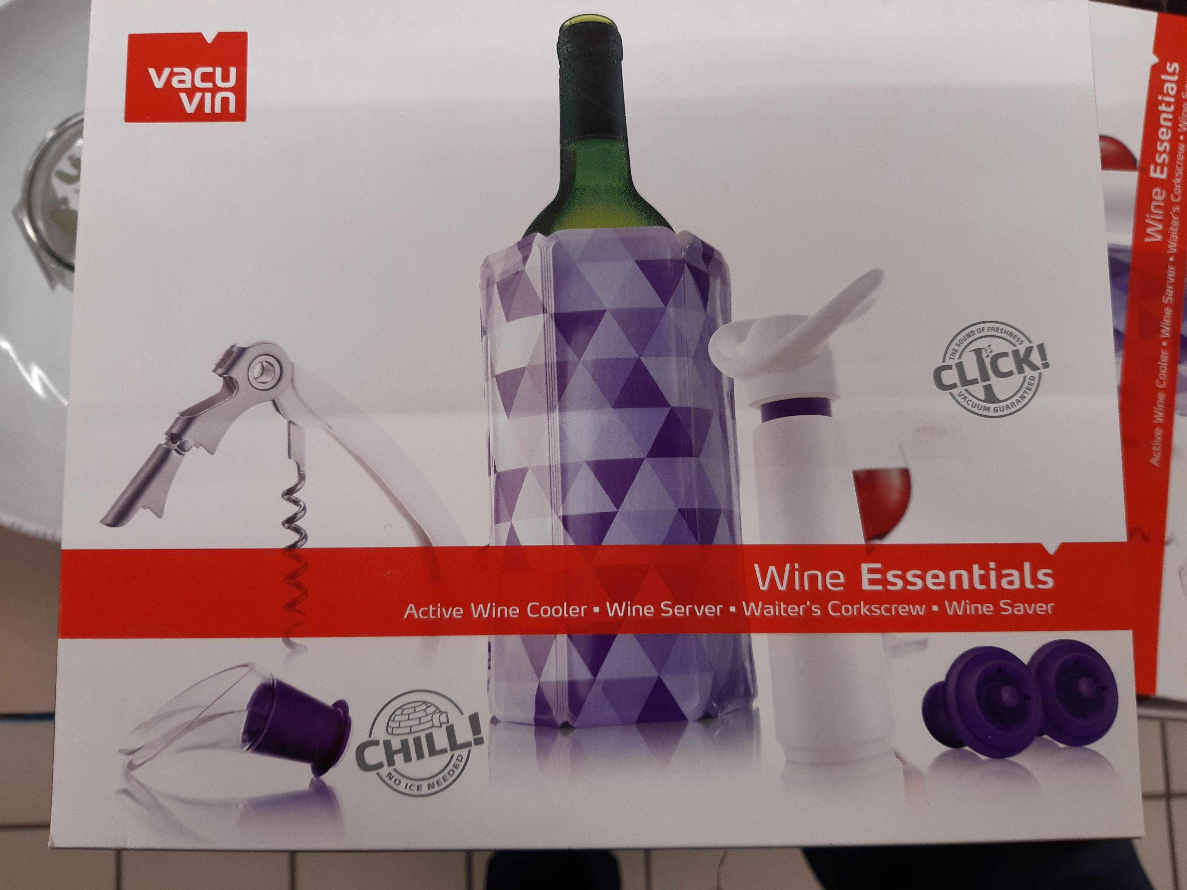 Coffret d'accessoires Vacuvin Wine Essentials - Changé (72)