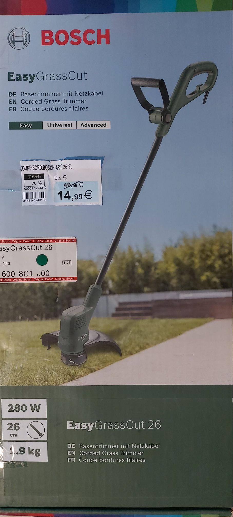 Coupe-bordures filaire Bosch EasyGrassCut 26 (26 cm, 280 W) - Pruniers-en-Sologne (41)