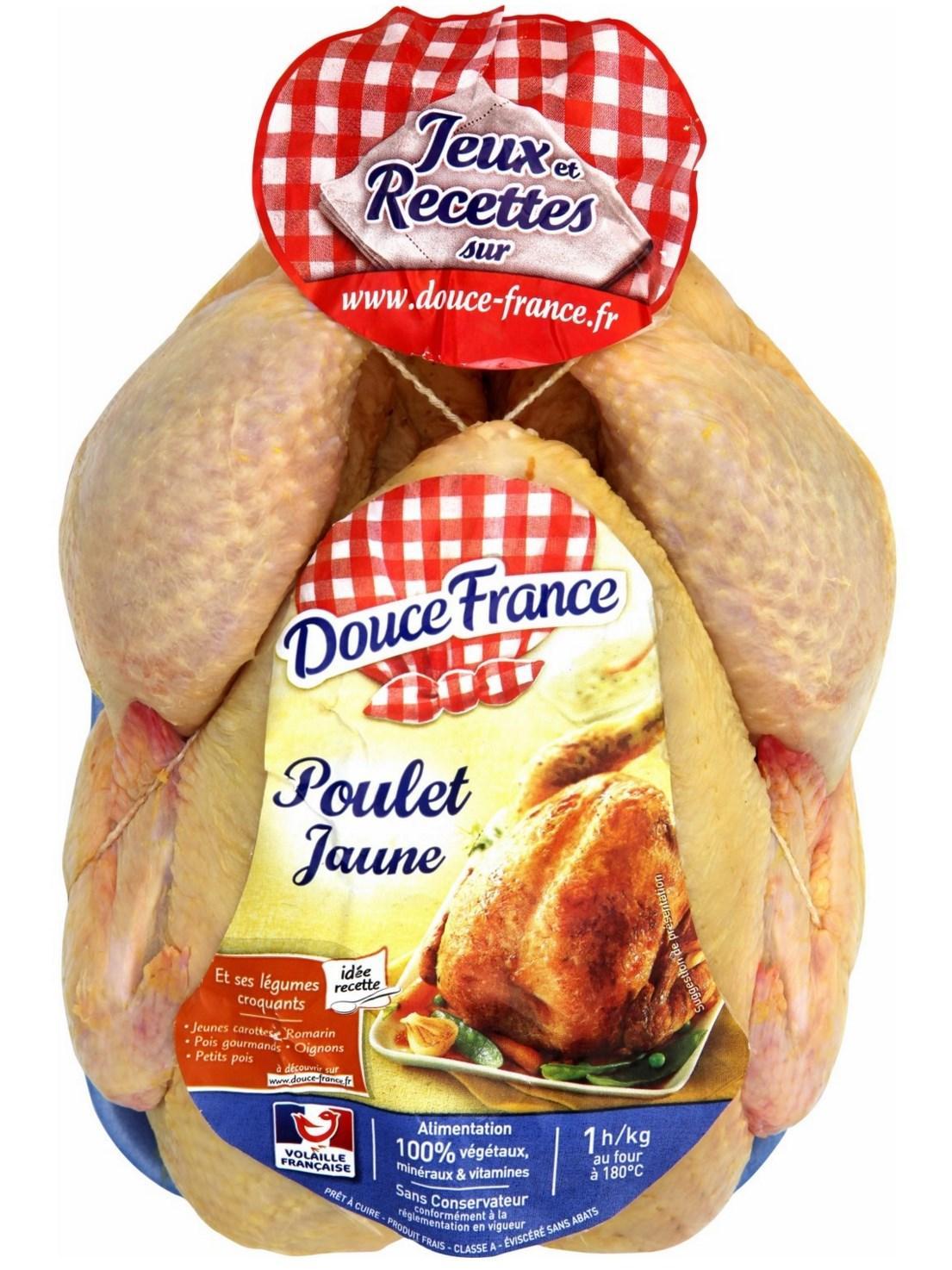 Lot de 2 Poulets Douce France jaunes