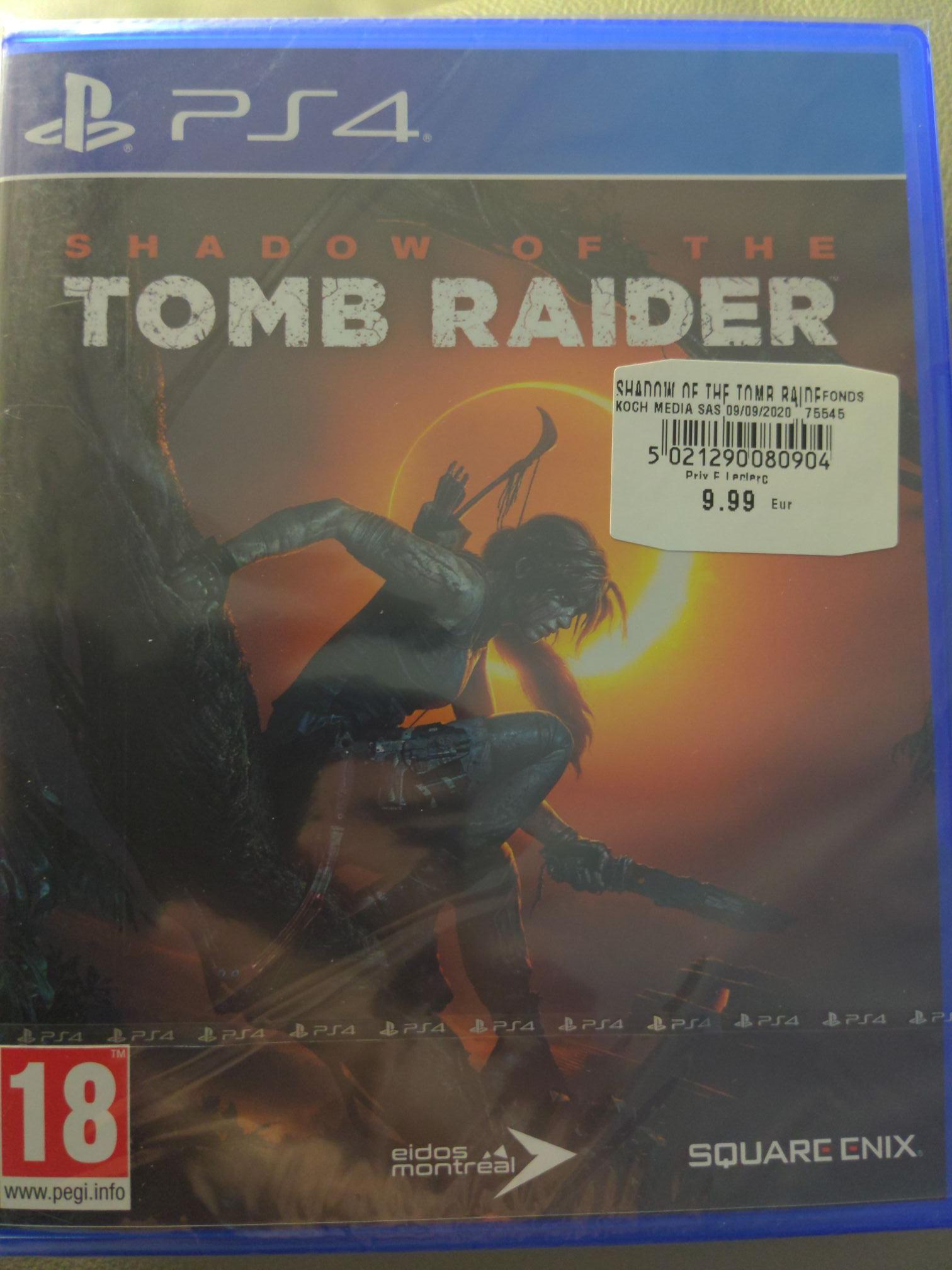 Jeu Shadow of the tomb raider sur PS4 - Leclerc Selestat (67)