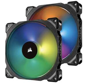 Lot de 2 Ventilateurs Corsair ML140 Pro RGB + Lighting Node Pro - 140 mm