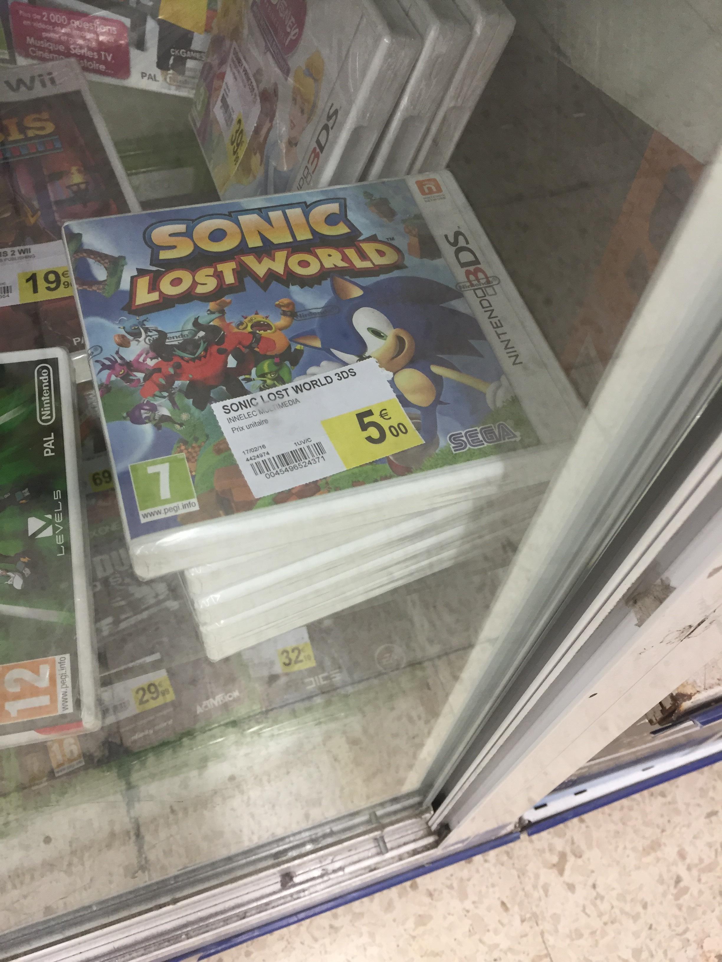 Sonic Lost World sur Nintendo 3DS