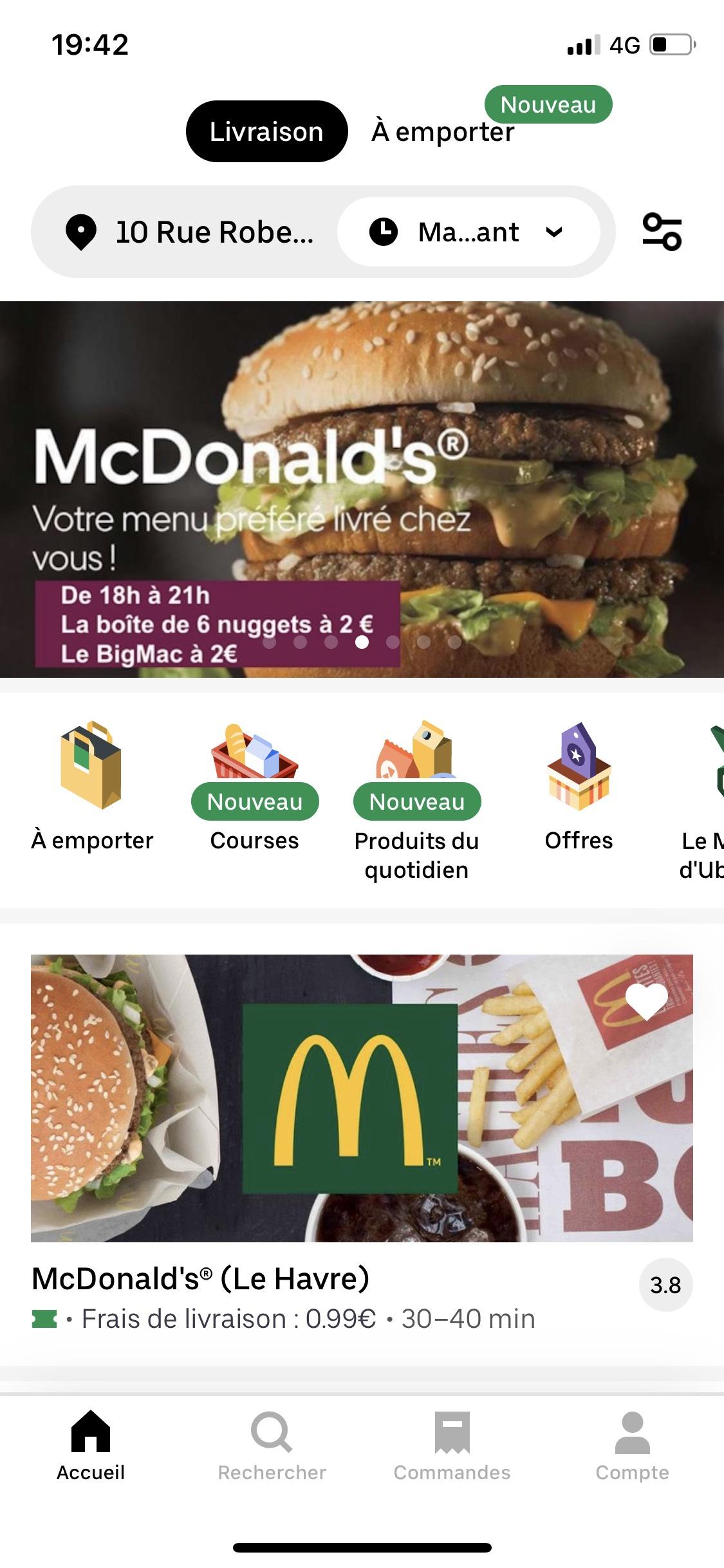 Big Mac ou Boîte de 6 nuggets à 2€ - Havre (76)