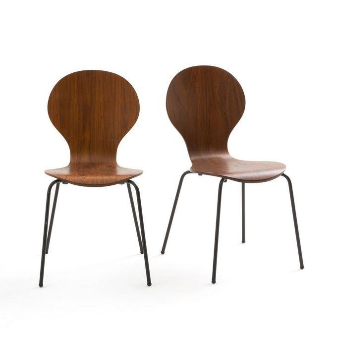 Lot de 2 chaises empilables Watford