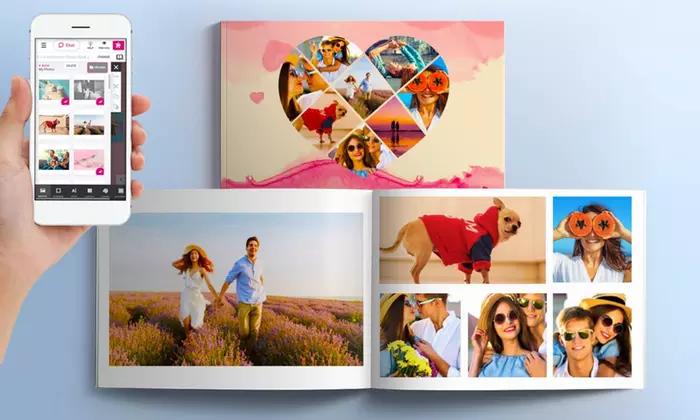2 Livres photo 60 pages A4 avec couverture rigide (via printerpix.fr)
