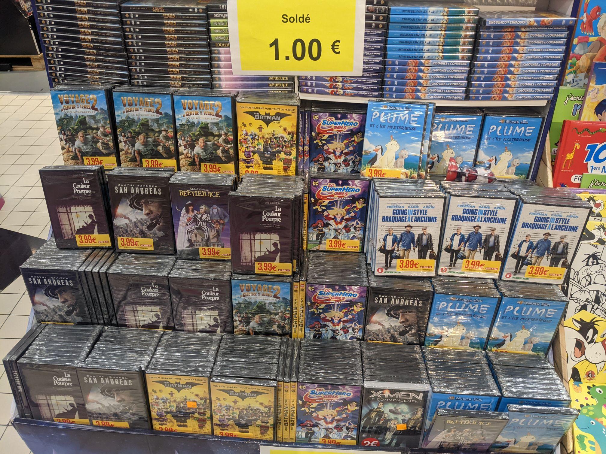 Sélection de DVD à 1€ - Ivry-sur-Seine (94)