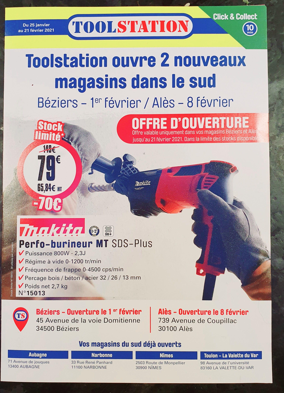Perforateur-Burineur Makita SDS-Plus 15013 - 800 (Béziers 34 / Alès 30)