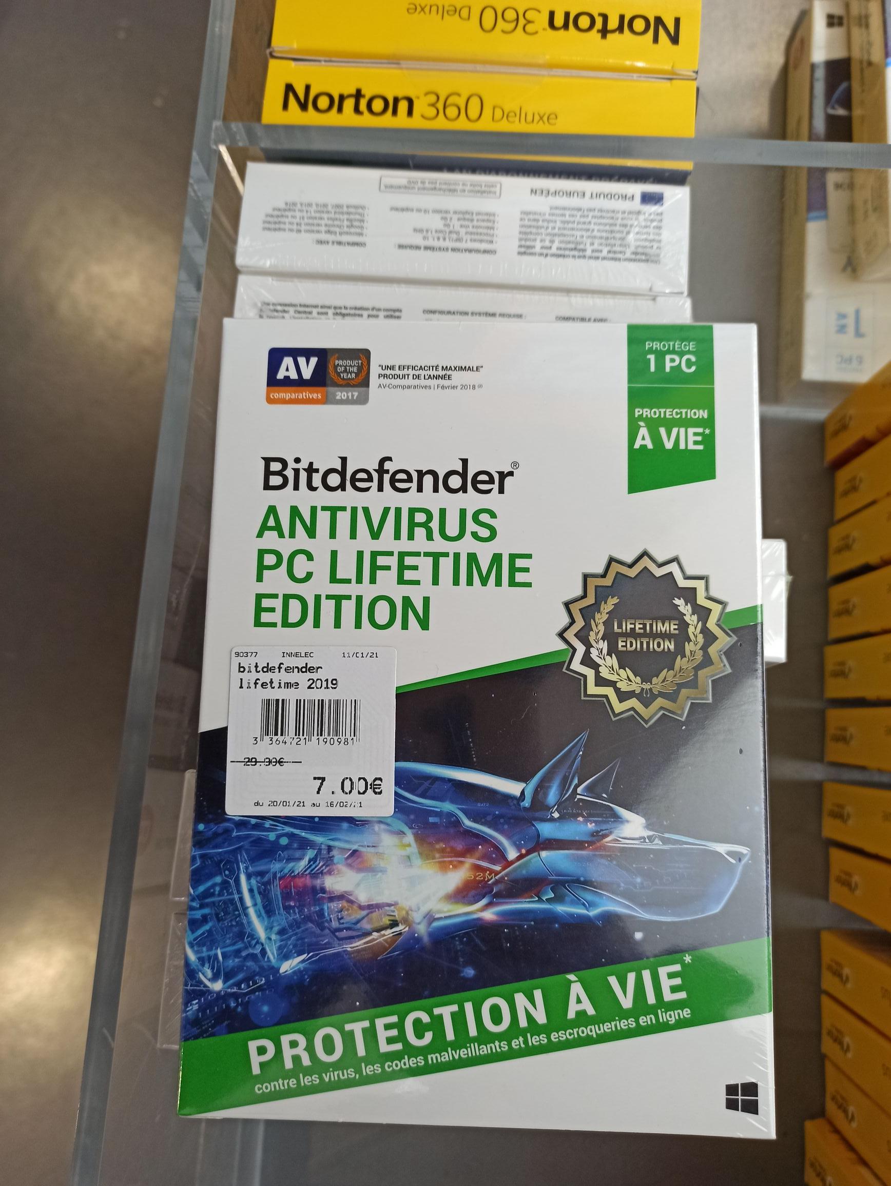 Logiciel BitDefender Antivirus Lifetime Edition - 1 Appareil sur PC (Atlantis Nantes 44)