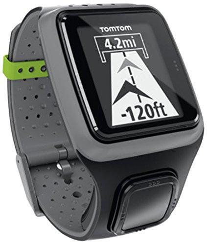 Montre GPS TomTom Multi-Sport (avec ceinture cardio-fréquencemètre) gris foncé