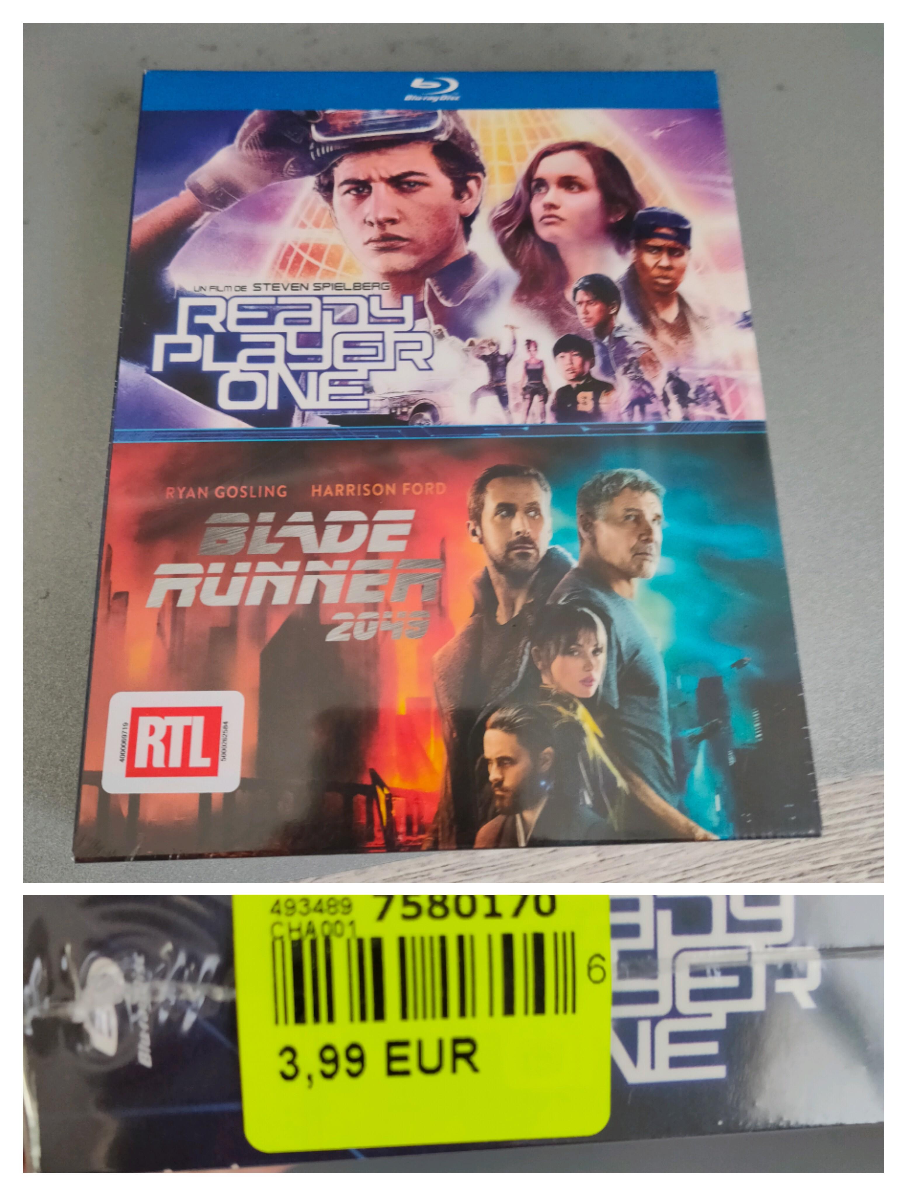 Coffret Blu-ray 2 films - Ready Player One & Blade Runner 2049 (Lons 64)