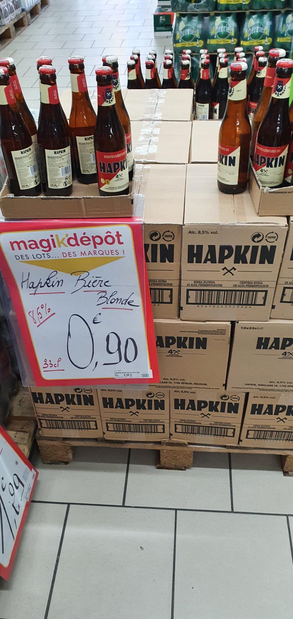 Bouteille de bières blonde Hapkin (33 cl) - Magik'Dépot Coquelles (62)
