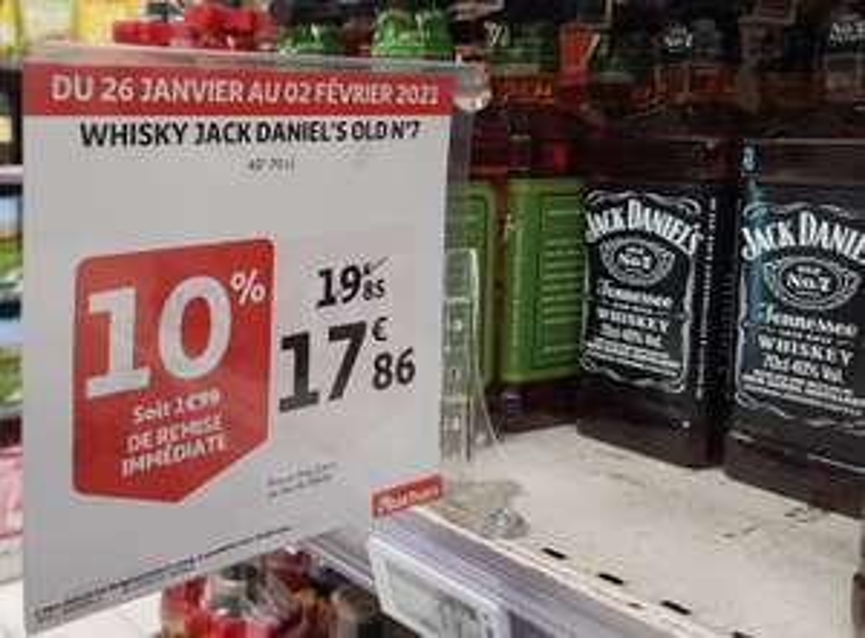 Bouteille de whisky Jack Daniel's Tennessee Old n°7 (70 cl) - Puteaux (92)