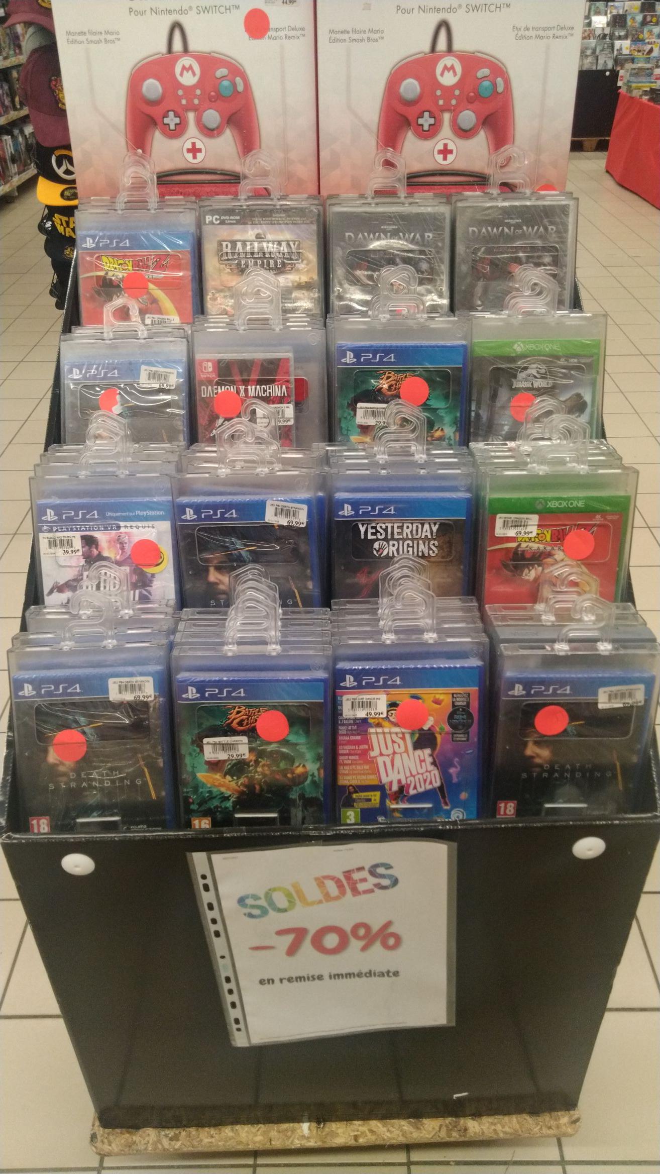 Sélection de Jeux Vidéo en promotion - Ex : Dragon Ball Z Kakarot sur PS4 (Bruay-la-Buissière 62)