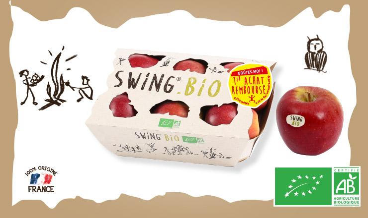 Pack de 4 ou 6 pommes Swing Bio 100% remboursé via ODR (swing-bio.offres-facility.fr)