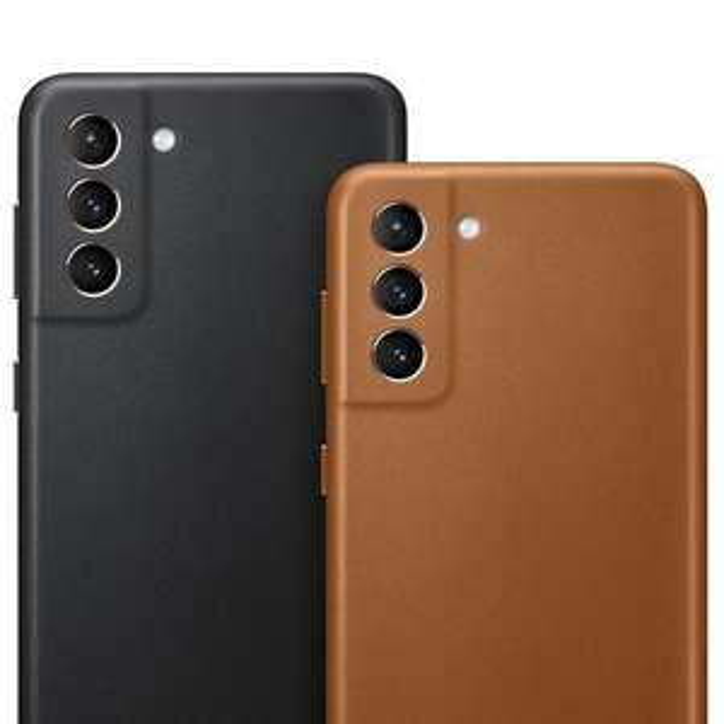 Coque en cuir pour Smartphone Samsung Galaxy S21+ (Noir ou Marron) - Via ODR de 20€