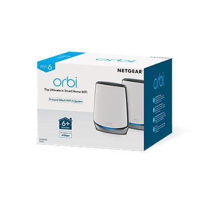 Pack Routeur WiFi 6 Netgear Orbi RBK852 Tri-band + 1 Satellite
