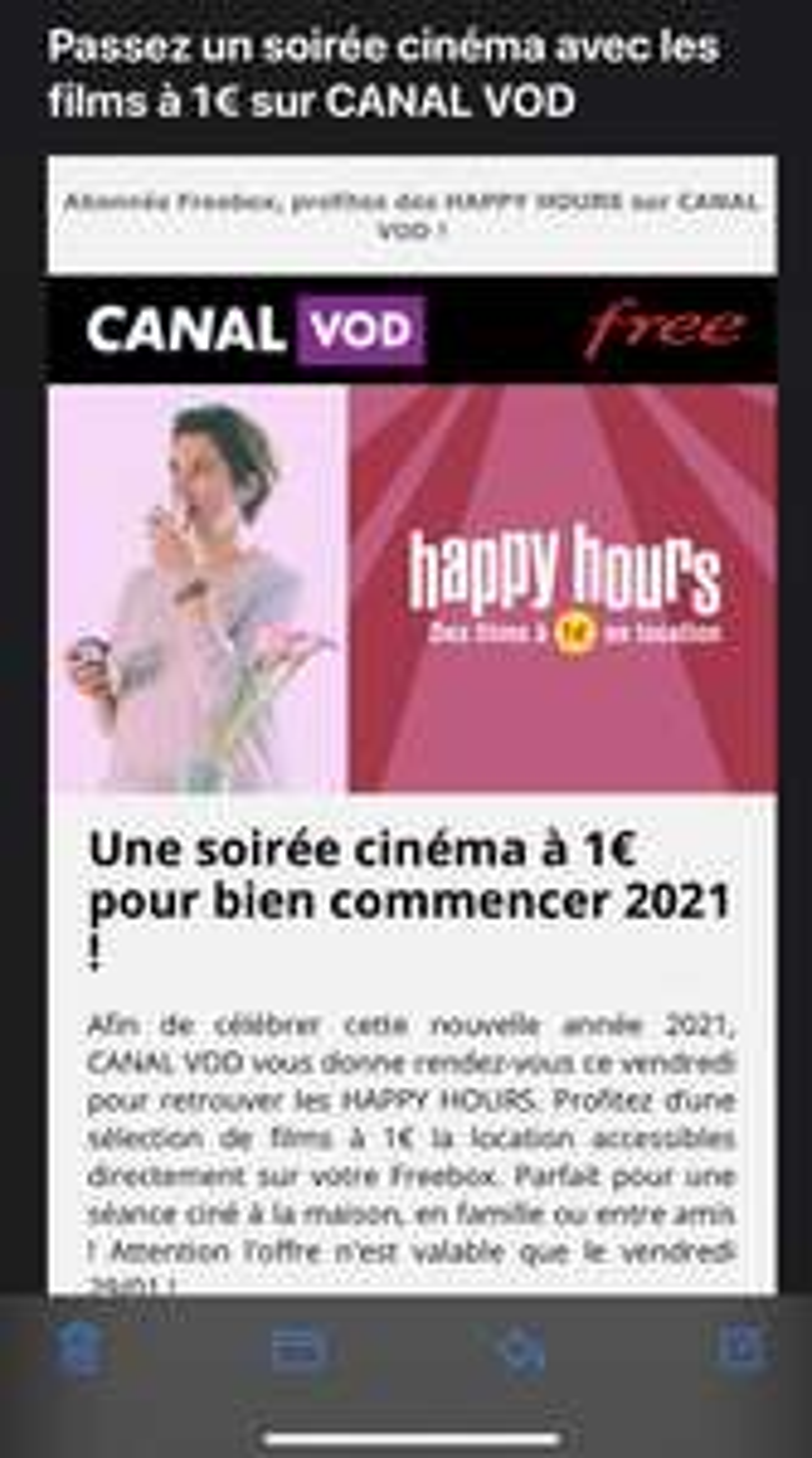 [Clients Free] Sélection de Films en location à 1€