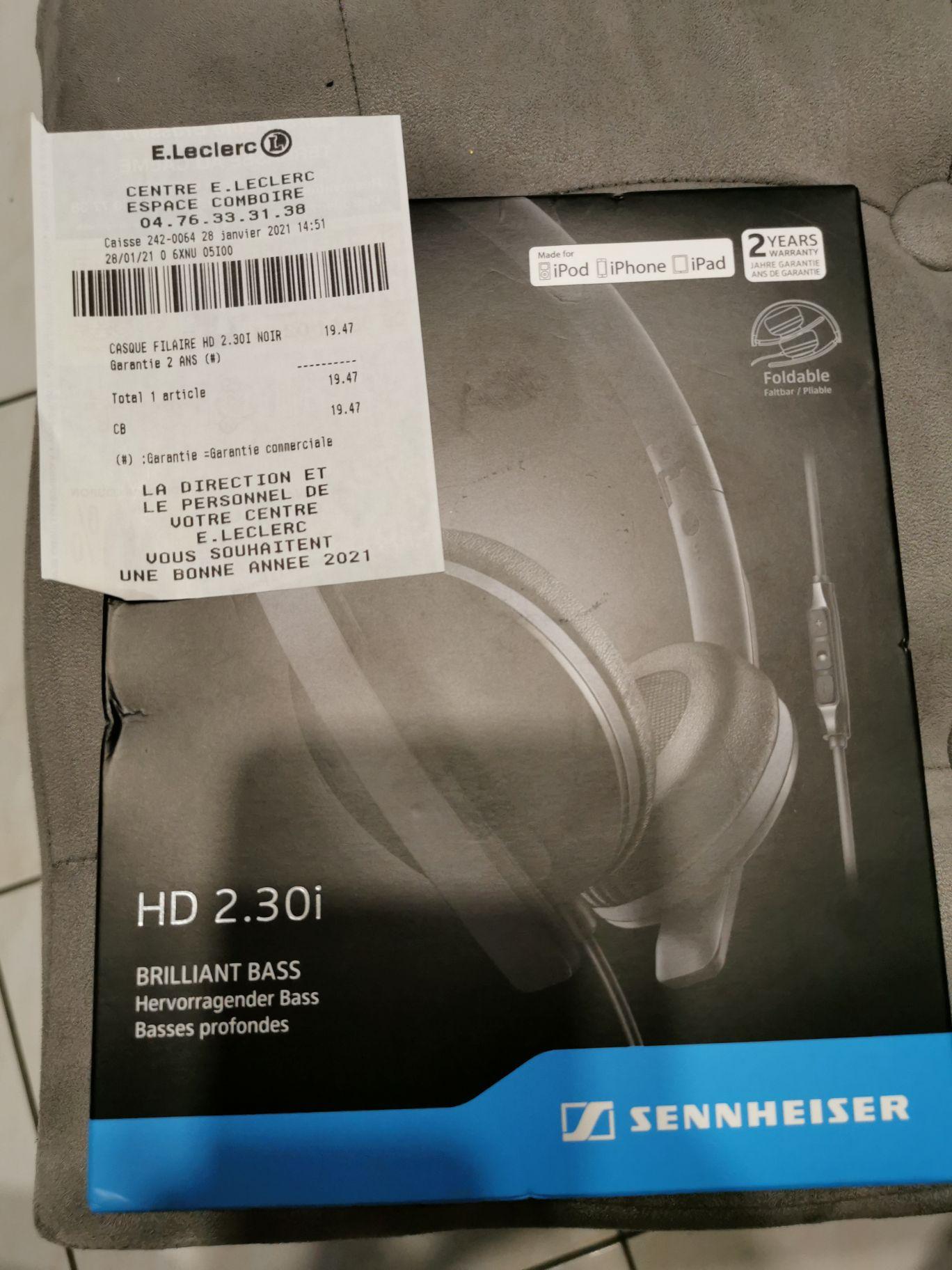 Casque audio Sennheiser HD 2.30I Noir - Echirolles (38)