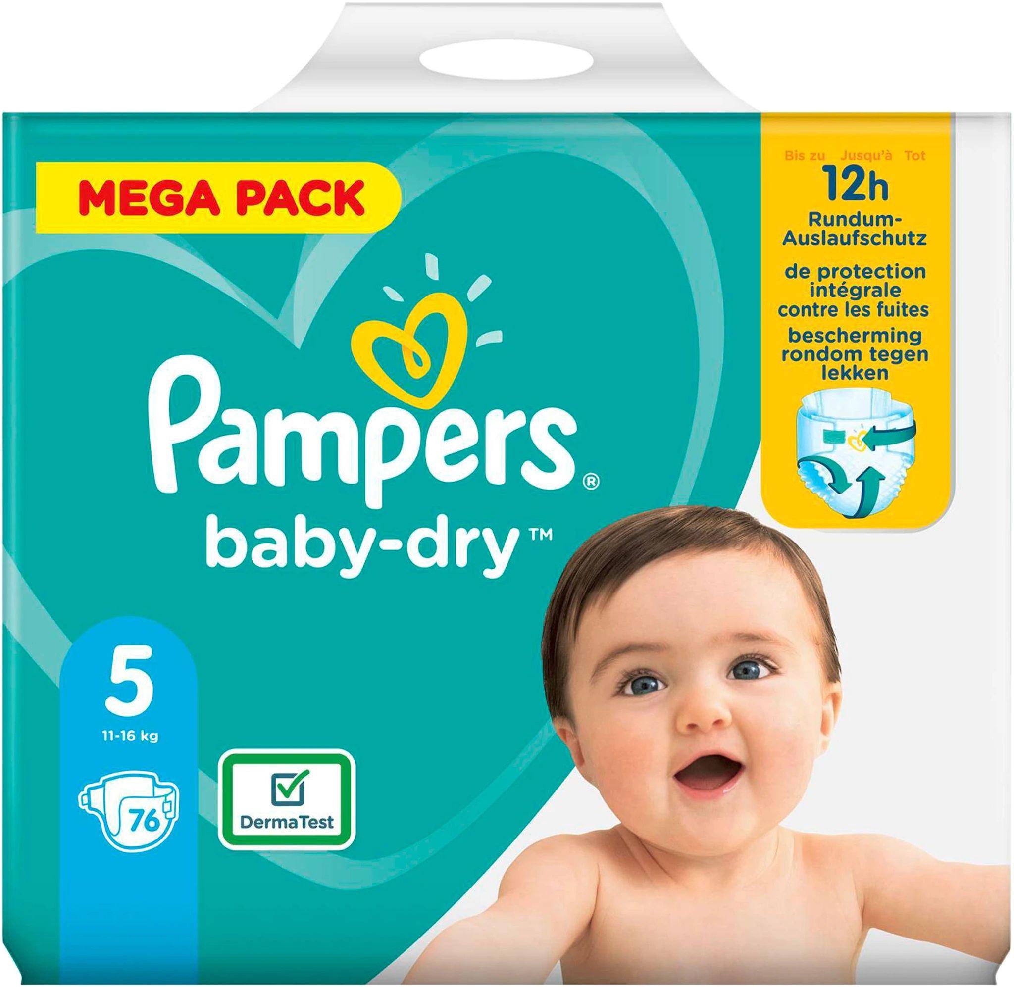 Pack de Couches Pampers Baby Dry - Tailles 3 à 5 (Via 15.90€ sur la carte fidélité)
