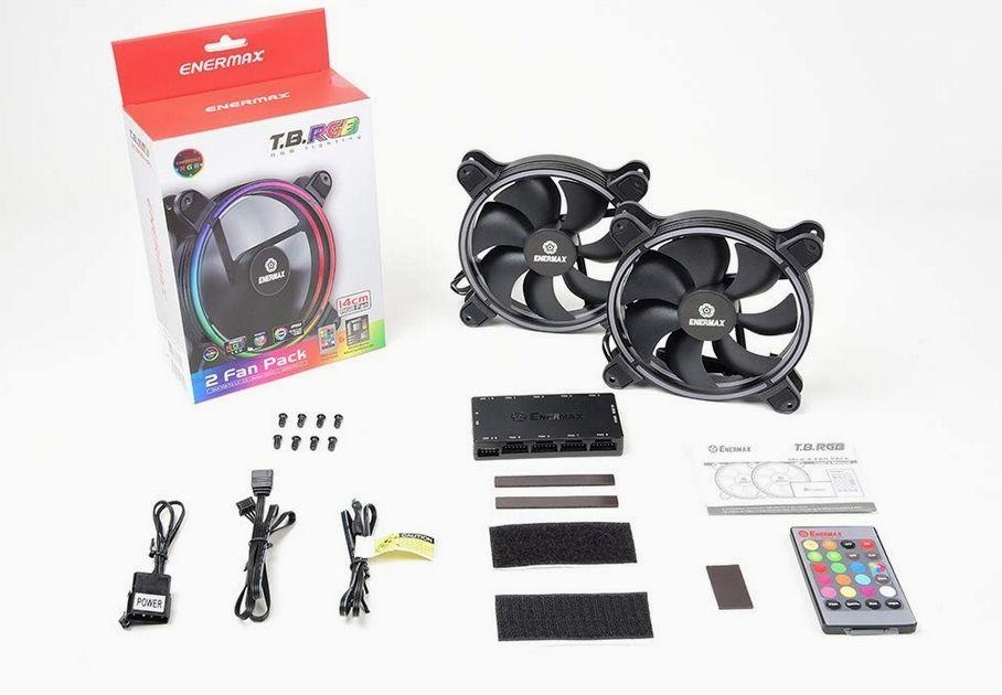 Pack de 2 Ventilateurs 140mm Enermax T.B. RGB pour Boîtiers PC