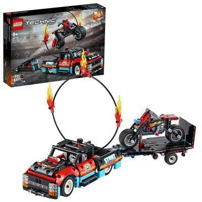 Jeu de Construction Lego Technic 42106 Le spectacle de cascades du camion et de la moto