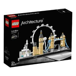 Jeu de construction Lego Architecture Londres 21034 à 24,99€ ou Lego Architecture San Francisco à 34,99€