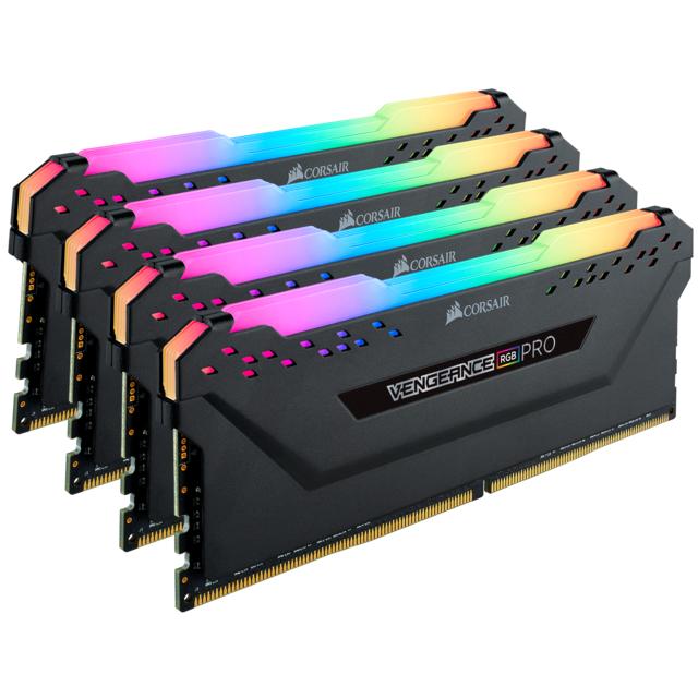 Mémoire RAM Corsair Vengeance RGB PRO Series - 32 Go, (4x 8 Go), DDR4, 3600 MHz, CL16