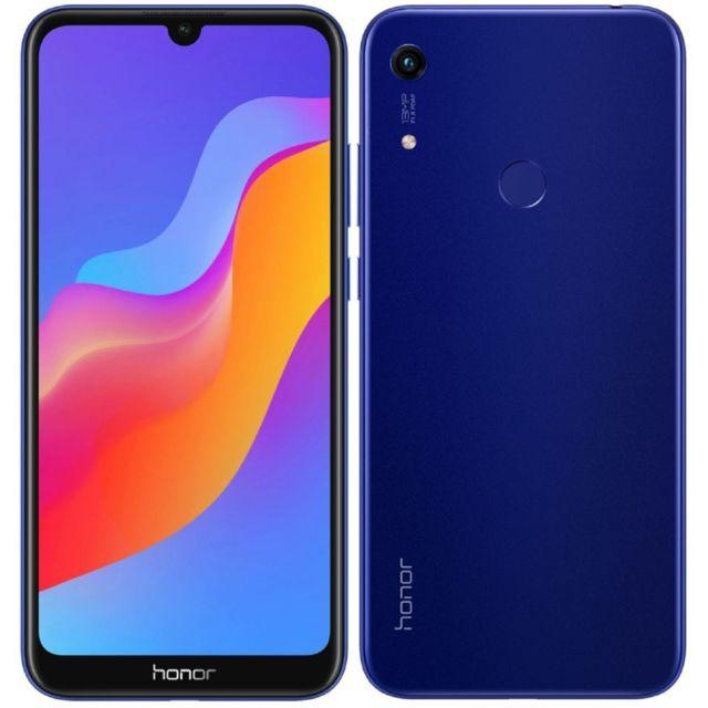 """Smartphone 6.09"""" Honor 8A 2020 - HD+, Helio P35, 3 Go de RAM, 64 Go, bleu"""