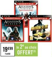 2 jeux PS3 Essentials Ubisoft