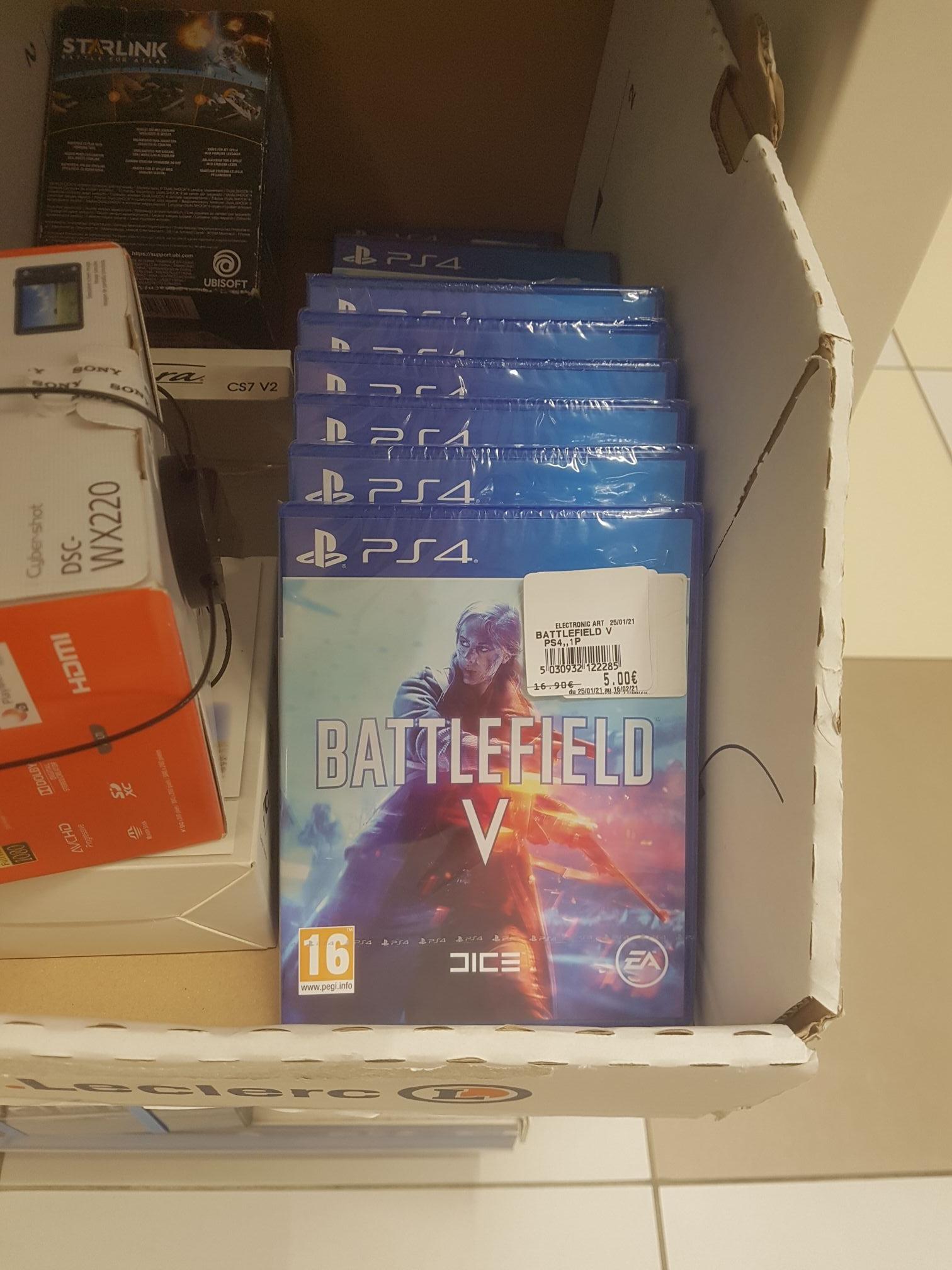 Sélection de jeux vidéo en promotion - Ex : Battlefield V sur PS4 - Bois-d'Arcy (78)