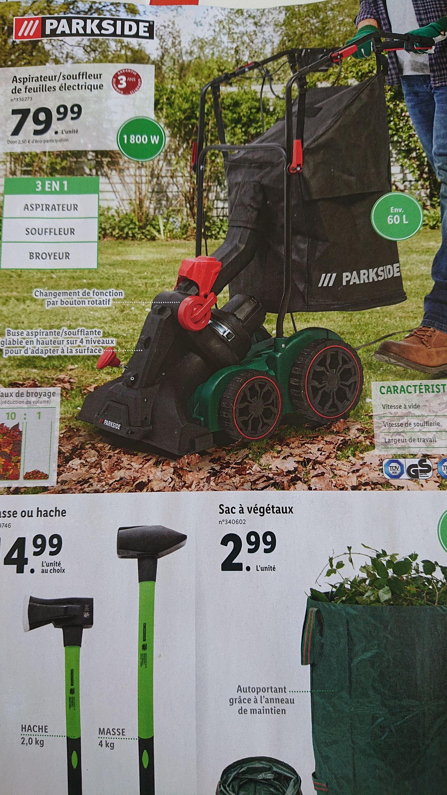 Aspirateur / Souffleur de feuilles électrique Parkside