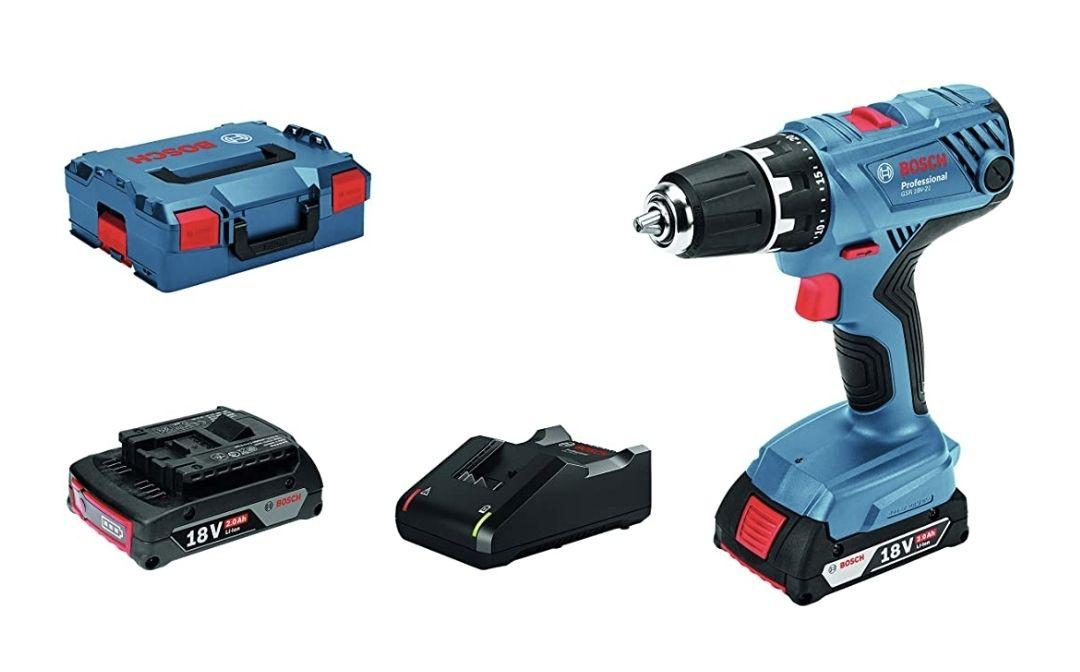 Perceuse-visseuse sans-fil Bosch Professional 18V System GSR 18V-21 - 55 Nm, 2 batteries 2,0 Ah, Chargeur GAL 18 V-20, L-BOXX
