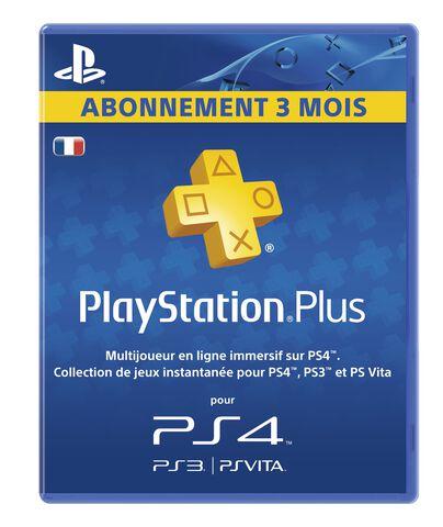 Abonnement PlayStation Plus 3 Mois - Saran (45), Rennes (35), Mandelieu (06)