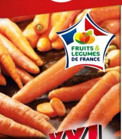 Sachet de carottes Variété Nantaise (Catégorie 1, Origine France) - 3Kg