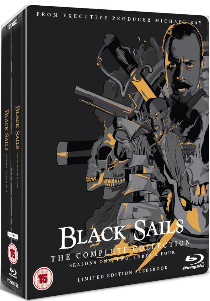 Coffret Blu-ray Stealbook Black Sails - Saison 1 à 4 (VF et VOSTFR uniquement Saison 1)