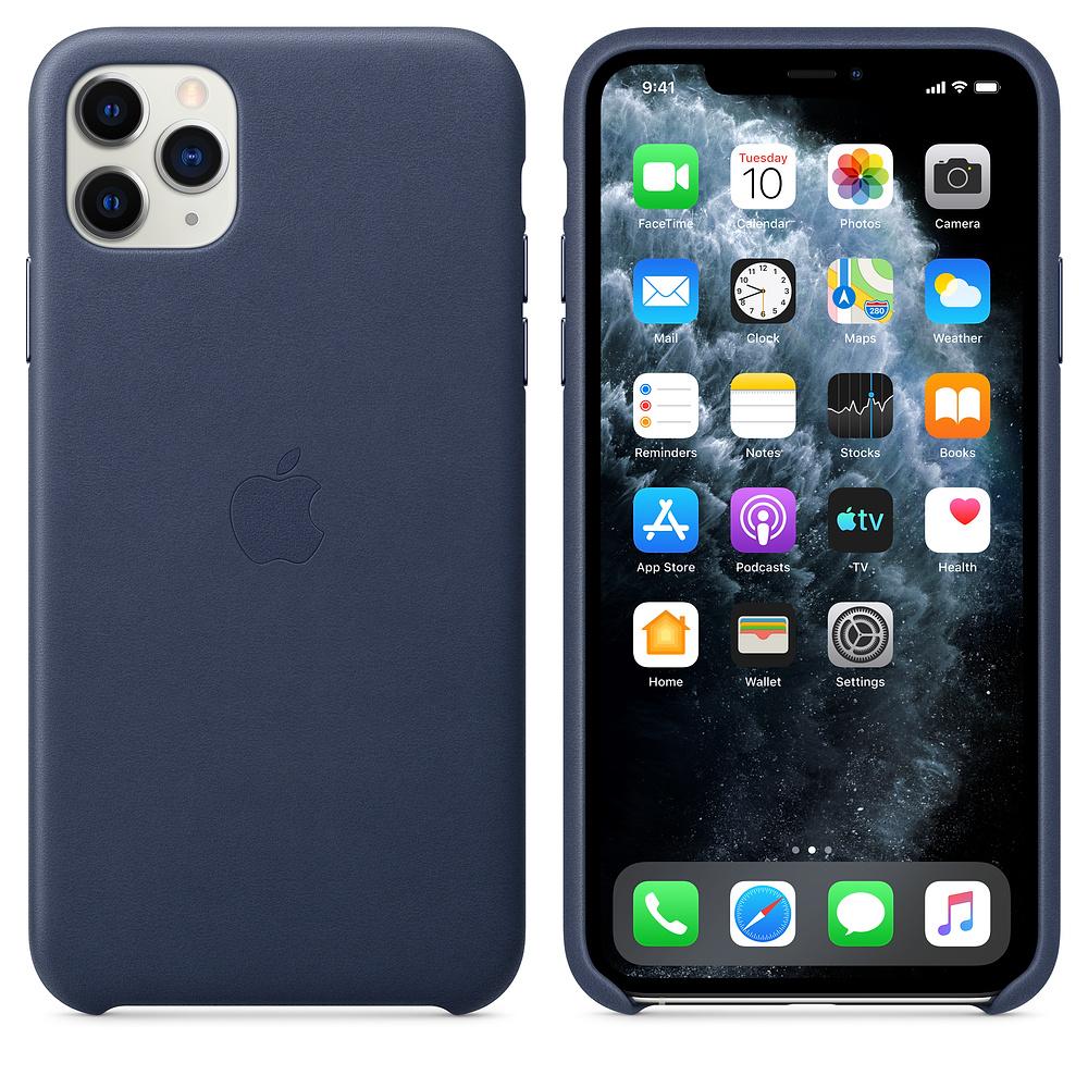 Coque en cuir Apple pour Iphone 11 Pro Max (3 coloris disponibles)