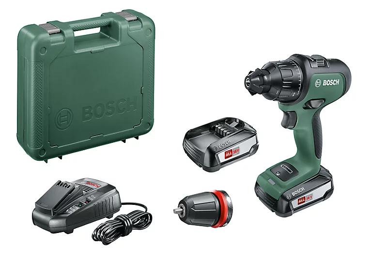 Perceuse visseuse à percussion sans fil Bosch Advancedimpact 18 V + 2 batteries