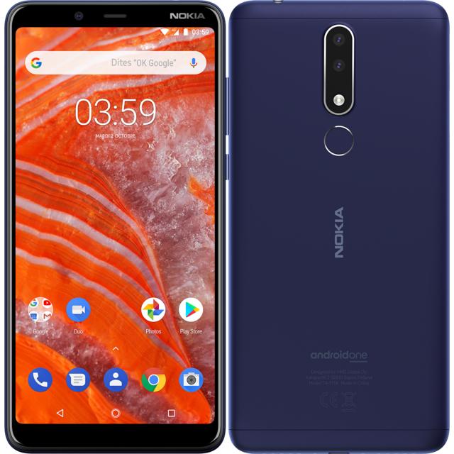 """Smartphone 6"""" Nokia 3.1 Plus - 32 Go, Bleu"""