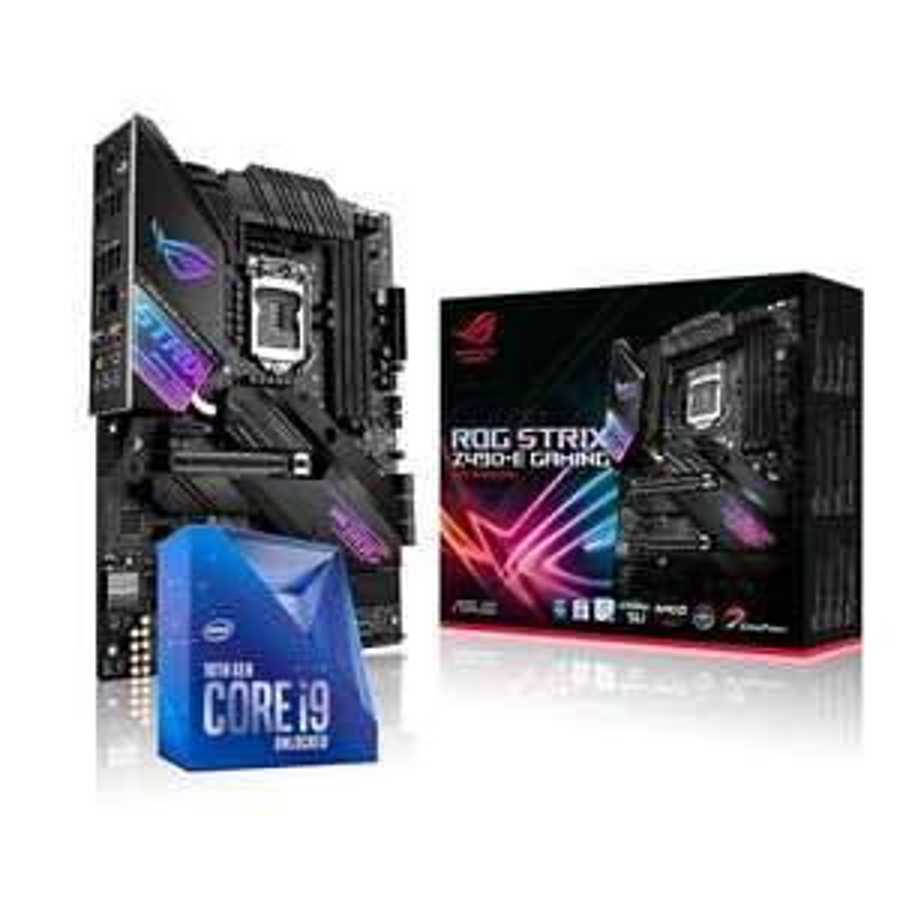 Processeur Intel Core i9-10850K + Carte mère ASUS ROG STRIX Z490-E