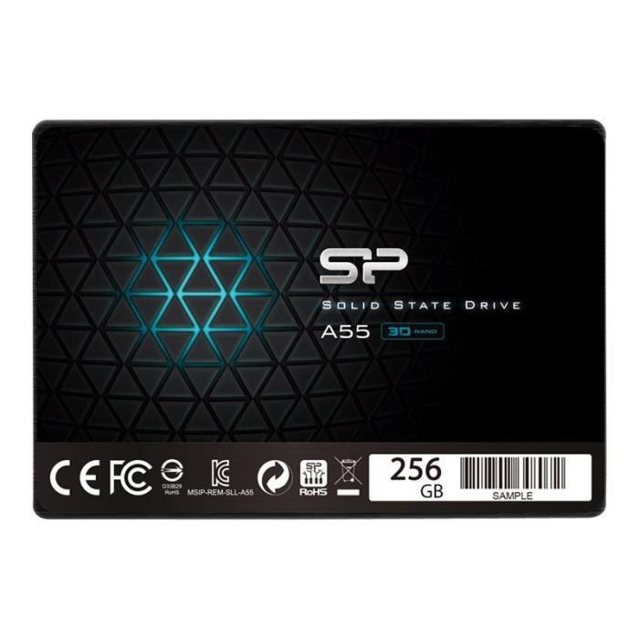 "SSD interne 2.5"" Silicon Power Ace A55 (TLC, DRAM-less) - 256 Go (Vendeur Tiers)"