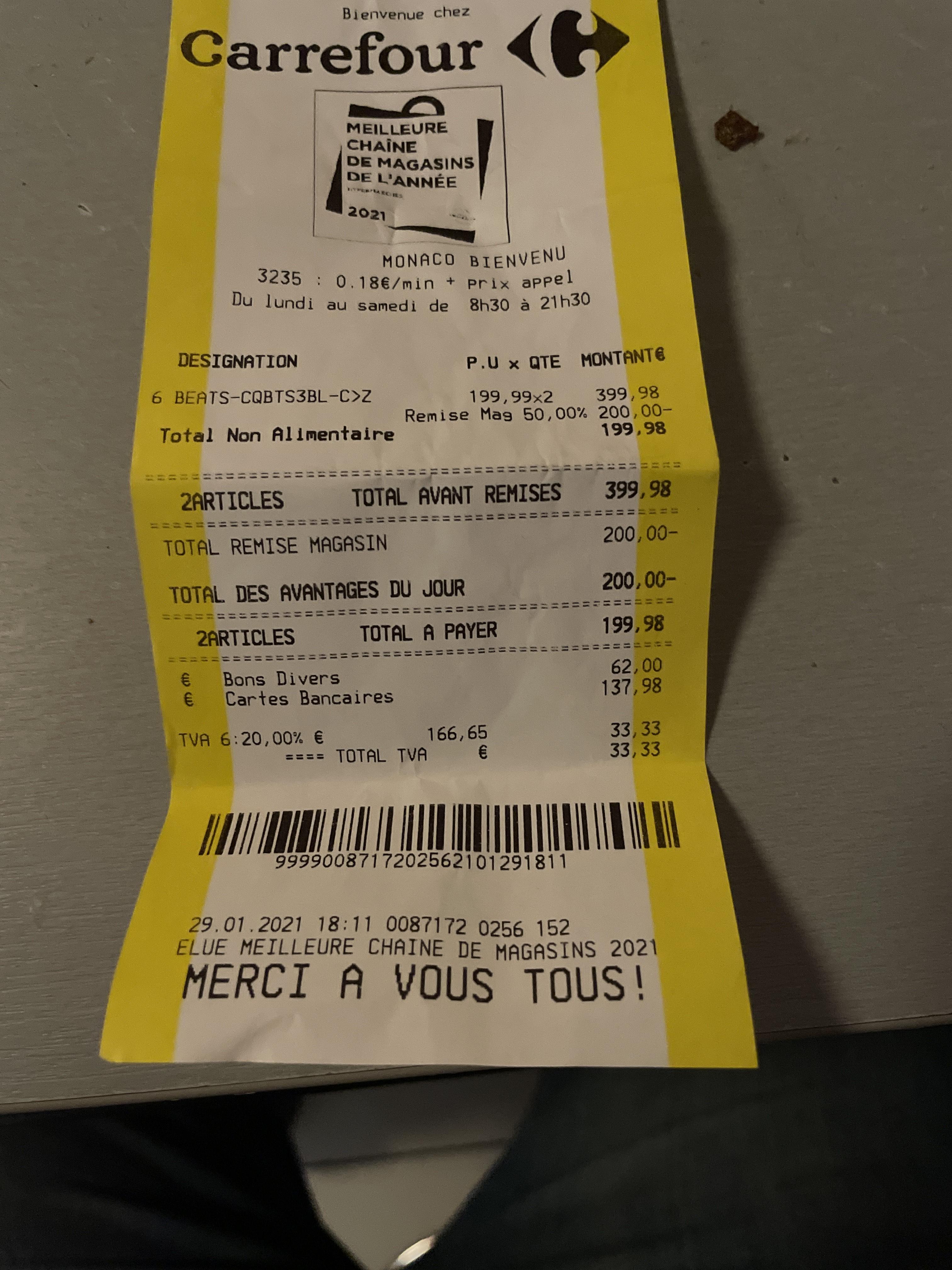 Casque sans-fil Beats Solo 3 Wireless - (Frontaliers Monaco)