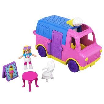Coffret avec poupée Polly Pocket Camion de glaces