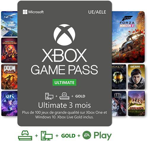 3 Mois d'abonnement Xbox Game Pass Ultimate (Dématérialisé)