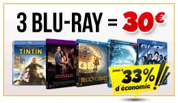 3 Blu-ray (Parmi une sélection) =