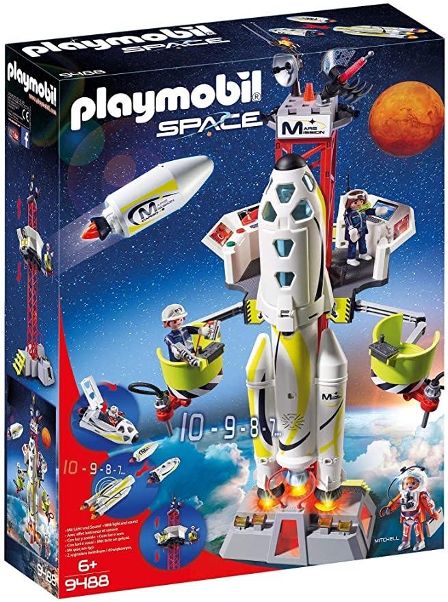 Playmobil 9488 - Fusée Mars avec Plateforme de Lancement