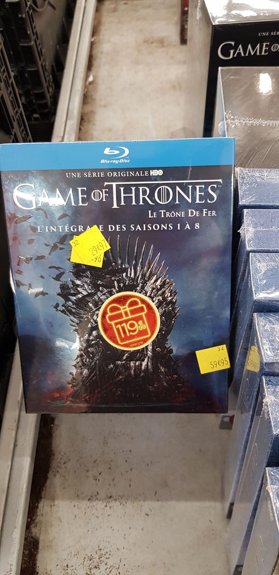 Coffret Blu-Ray Game of Thrones (Le Trône De Fer) - L'intégrale des Saisons 1 à 8 (Carré Sénart 77)