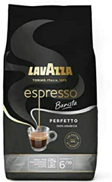 Café en Grain Lavazza Perfetto Barista Espresso, Dense et velouté 100% Arabica - 1 kg
