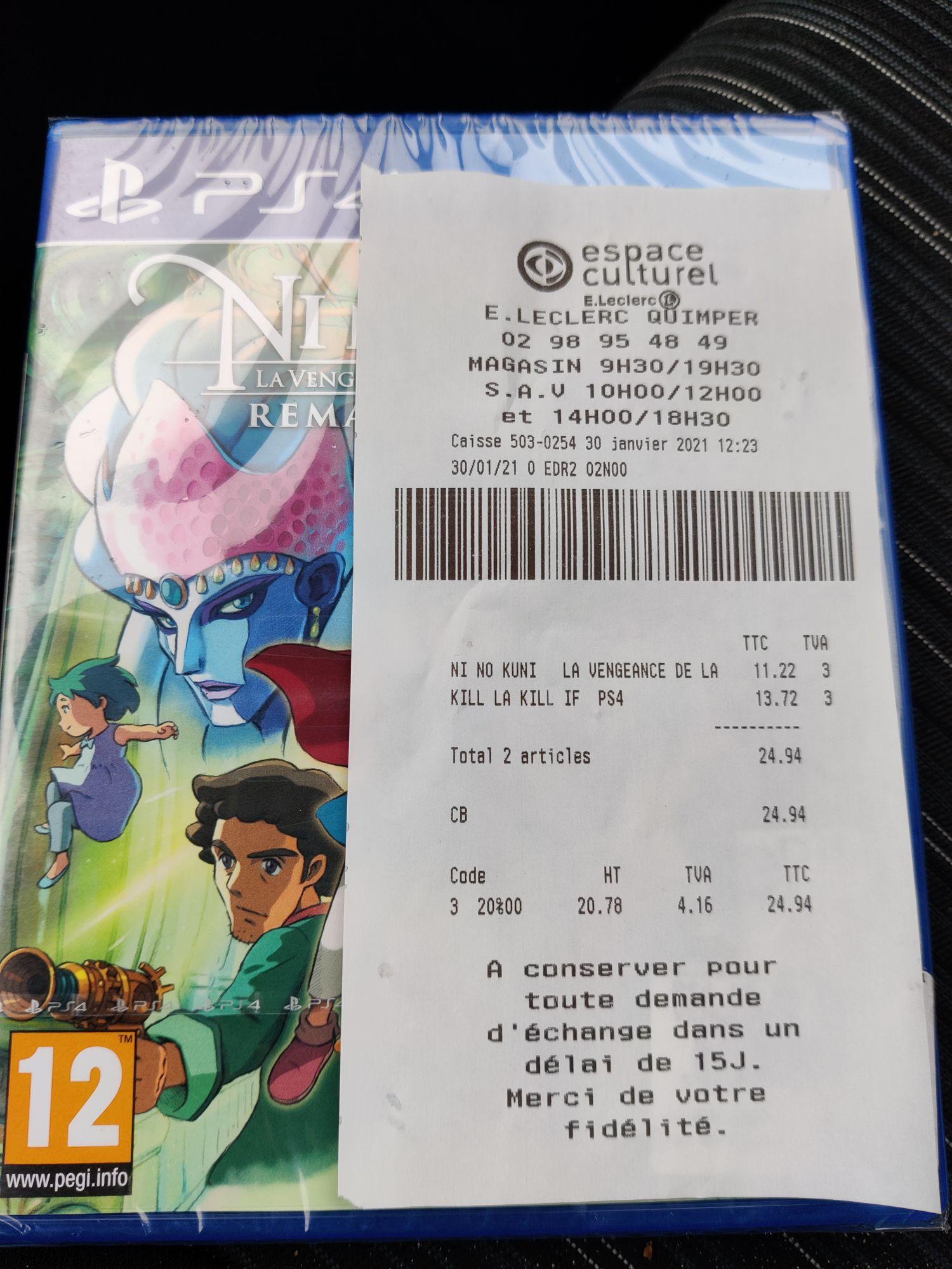 Sélection de Jeux PS4 en promotion - Ex : Ni No Kuni Remastered PS4 (Quimper 29)
