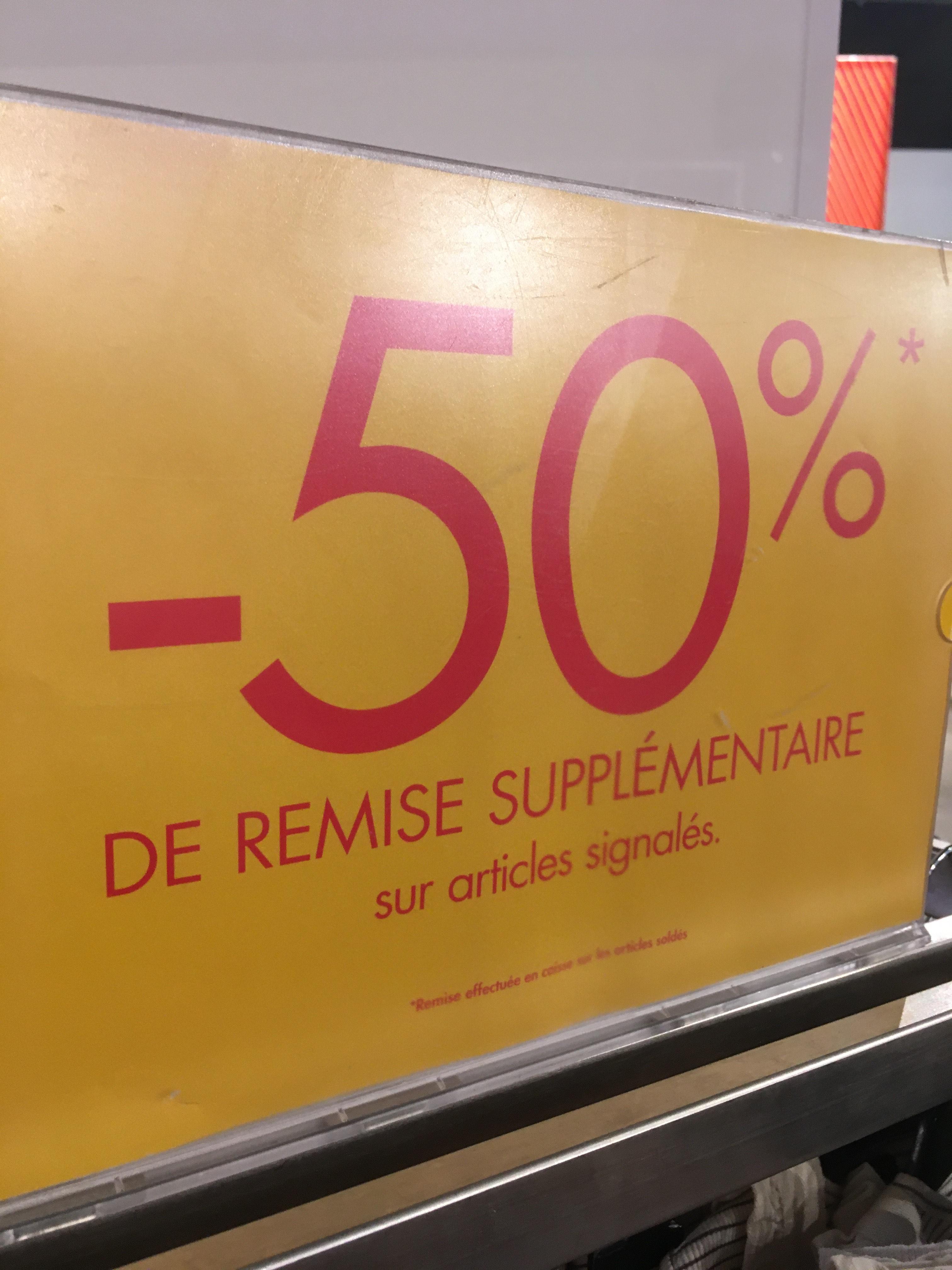50% de réduction sur une sélection de produits Kiabi Kids - O'Parinor (93)